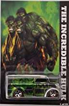 Hot Wheels Green Dairy Delivery Custom-Made Limited Edition 'The Incredible Hulk' Series 1:64 Scale Collectible Die Cast Model Car.