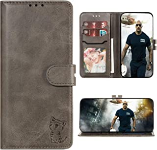 for Huawei Y7 Pro(2019) Case Leather Flip With Card Clot Kickstand PU+TPU Shockproof Magnetic Phone Wallet Cover (Gray)