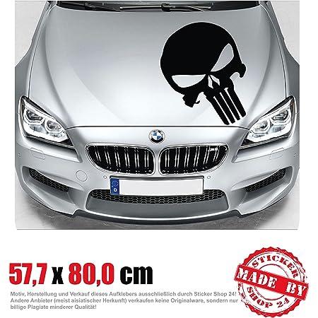 Wdesigns Autoaufkleber The Punisher Totenkopf Aufkleber Motorhaube Sticker Schädel Auto