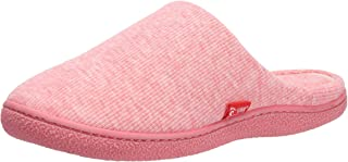 Aelph Mens Womens House Cotton Flat Slippers Breathable Non-Slip for Indoor Outdoor Use.