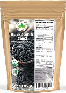 Black Cumin Seed 1lb (16Oz) (Bulk Nigella Sativa): 100% USDA Certified ORGANIC Bulk Egyptian Black Seeds (Black Caraway) -...