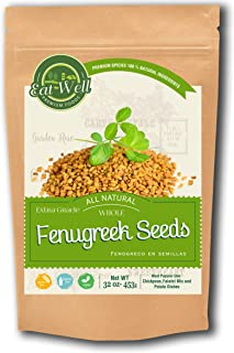 Eat Well Premium Foods - Fenugreek Seeds 32oz Reseable Bag -Bulk, Whole Fenugreek Methi Seed, Fenogreco en Semillas,Gluten...
