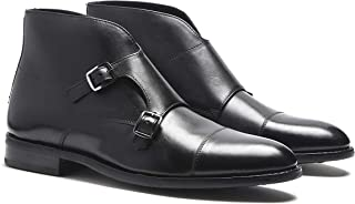Best suede monk strap boots Reviews