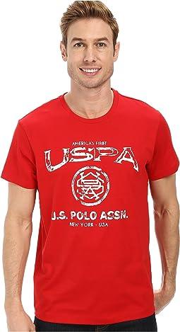 Crew Neck Uspa Graphic T-Shirt