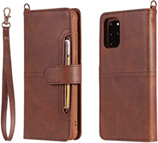 PU Leather Flip Cover Compatible with iPhone XS, coffee Wallet Case for iPhone XS