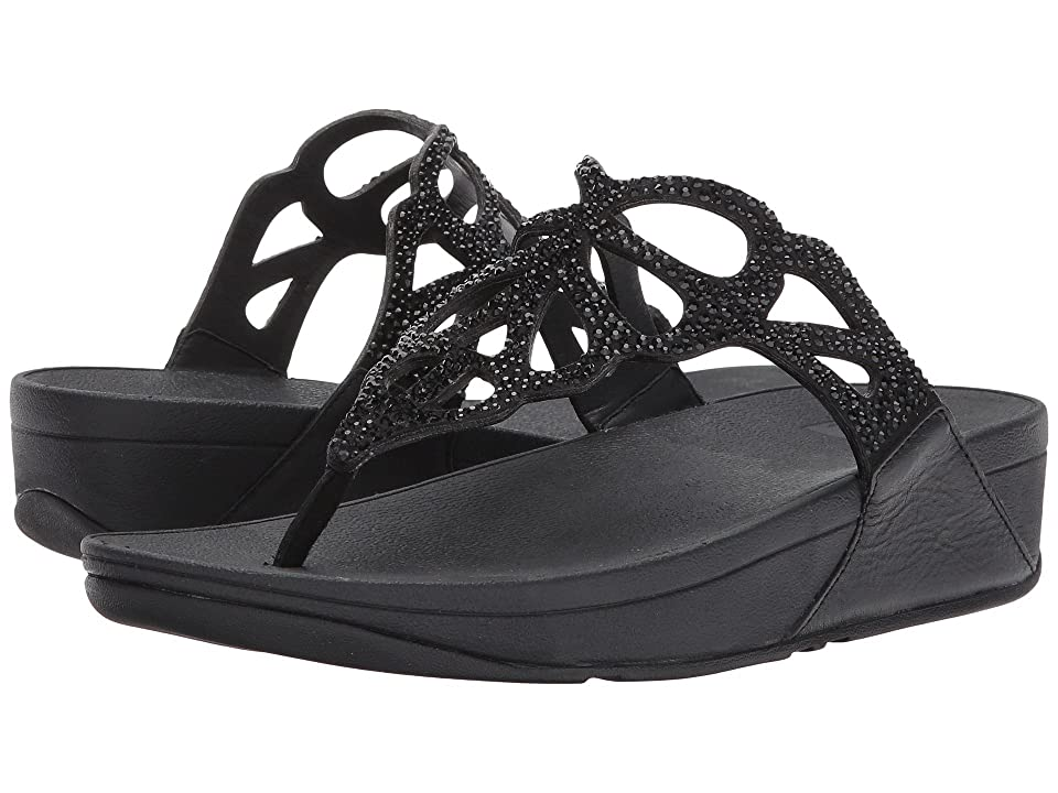 FitFlop Bumble Crystal Toe Post (Black) Women