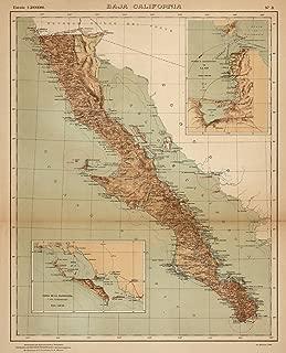 VintPrint Map Poster - No. 3: Baja California - 24
