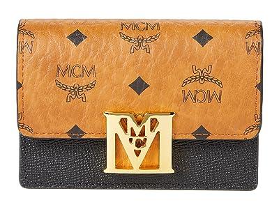 MCM Mena Visetos Leather Block Flap Wallet/Trifold Mini