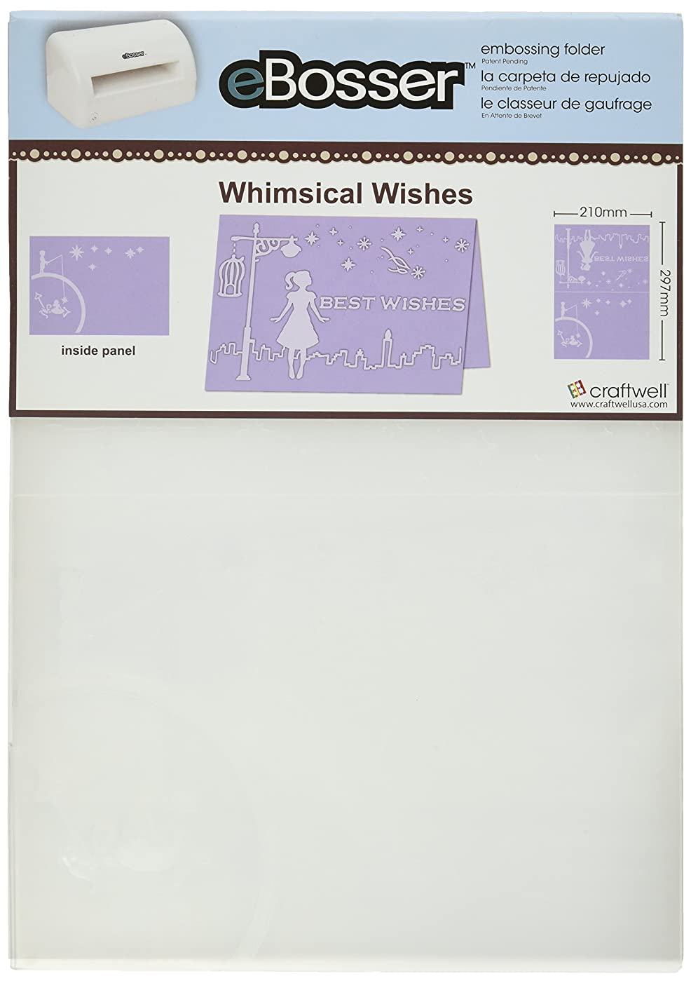 Craftwell USA Whimsical Wishes Embossing Folder, 8.27 by 11.69-Inch