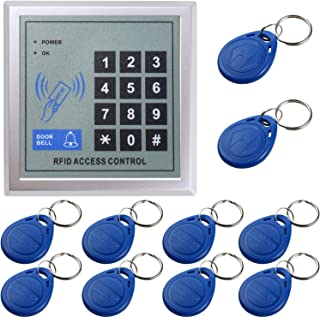 UHPPOTE 125KHz Proximity RFID Card Standalone Access Control Keypad with 10pcs Keyfobs