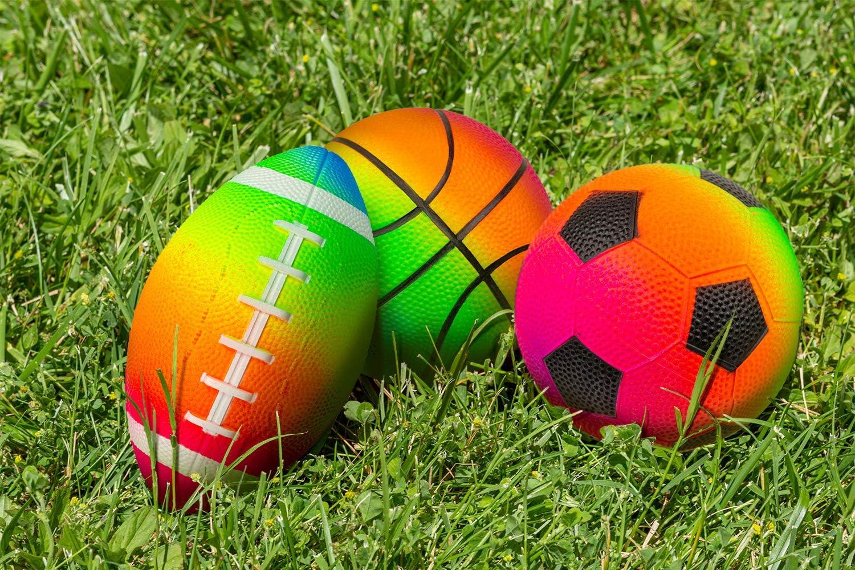 Poolmaster Rainbow Color Waterproof Sport Game Balls (Football,