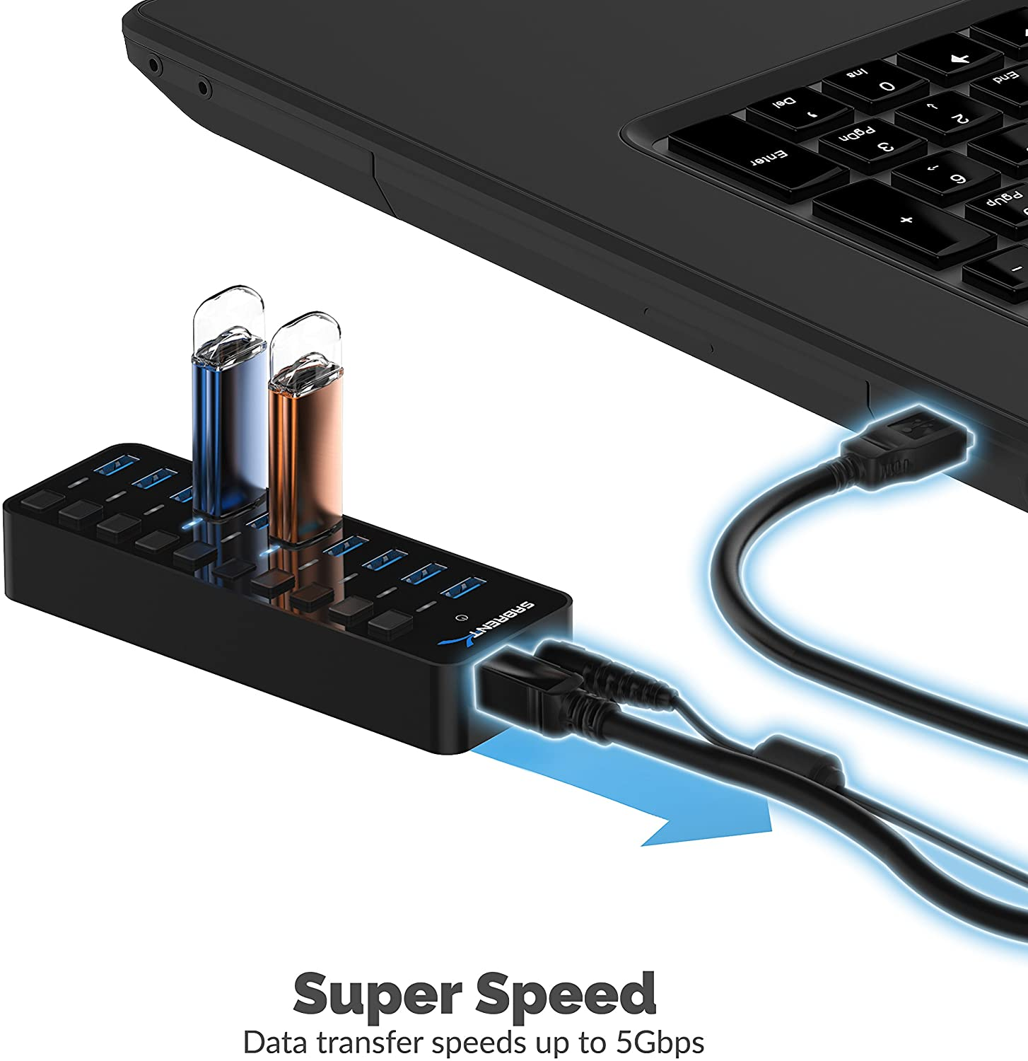 1.5m Gaming Cable Length HGWEI A866 USB 6400DPI Four-Speed Adjustable RGB Light-Emitting Wired Game Optical Mouse