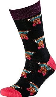Men's Funky Dane Jacquard Crew Socks