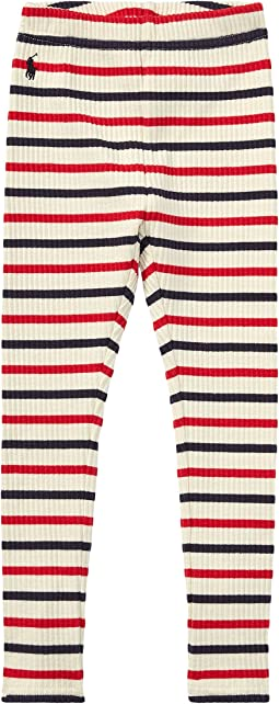 Polo Ralph Lauren Kids - Striped Stretch Cotton Leggings (Toddler)