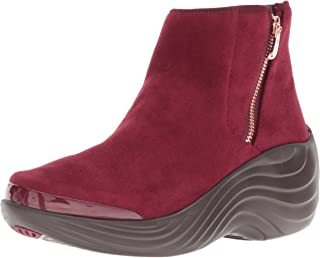 BZees Women's Zora Ankle Boot, Wine, 11 M US