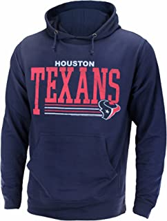Junk Food Houston Texans NFL Men's Fundamentals Pullover French Terry Hoodie, Navy