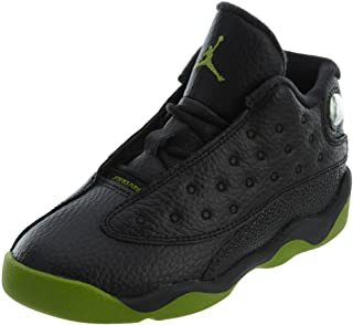 8a0803ca2c5c6 Nike 414581-042 Kids Toddler Jordan 13 Retro BT Jordan Black Altitude Green-