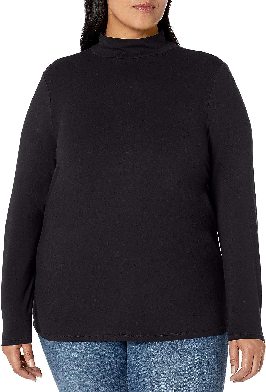 Amazon Essentials Women's Plus Size Long-Sleeve Mockneck