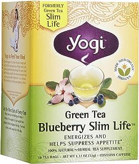 Yogi Tea Green Tea Blueberry Slim Life, Herbal Supplement, Tea Bags, 16 ct