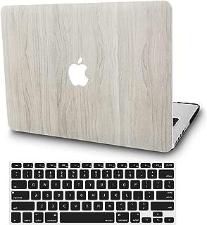 KECC MacBook Pro 13 Pulgadas (2019/2018/2017/2016, Touch Bar) Funda Dura Case w/EU Cubierta Teclado MacBook Pro 13.3 Ultra Delgado Plástico {A1989/A1706/A1708} (Madera de Pino 2)
