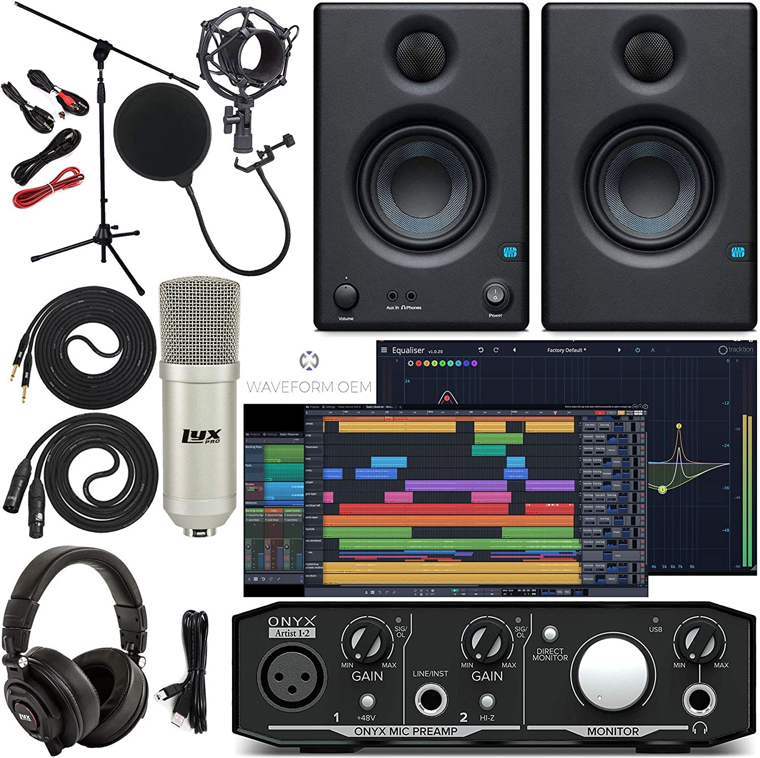 Mackie Onyx Artist 1-2 Audio Sacramento Mall Same day shipping Interface With Tools Pro First Trac