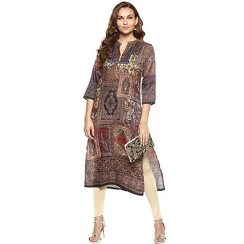 ace92507505 Lagi Kurtis Ethnic Women Kurta Kurti Tunic Digital Print Top Dress Casual  Wear