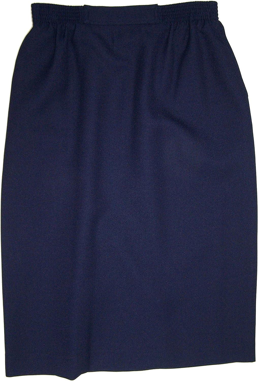 Alfred Dunner Classics Elastic Waist Straight Skirt