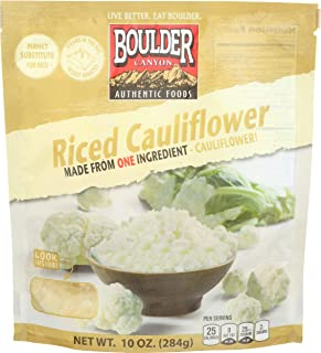 Boulder Canyon Authentic Foods, Cauliflower Riced, 10 Ounce