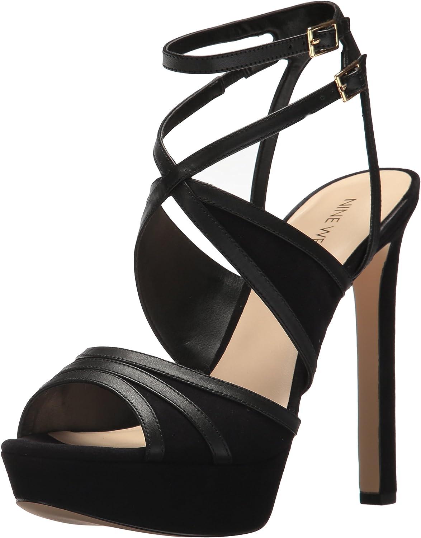 Nine West Women's Valeska Leather Heeled Sandal
