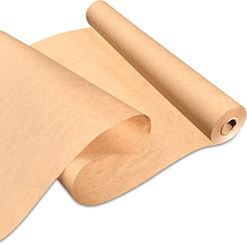 "Made in USA Brown Kraft Paper Jumbo Roll 17.75"" x 1200"" (100ft) Ideal for Gift Wrapping, Art, Craft, Postal, Packing,..."