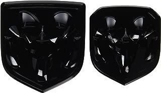 Black Dodge Ram 1500 2500 3500 Front & Rear Ram Head Emblem Medallion Mopar OEM