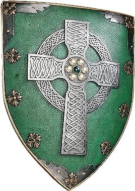 Design Toscano CL41032  Celtic Cross Warriors Shield Medieval Decor Wall Sculpture, 18 Inch, Single