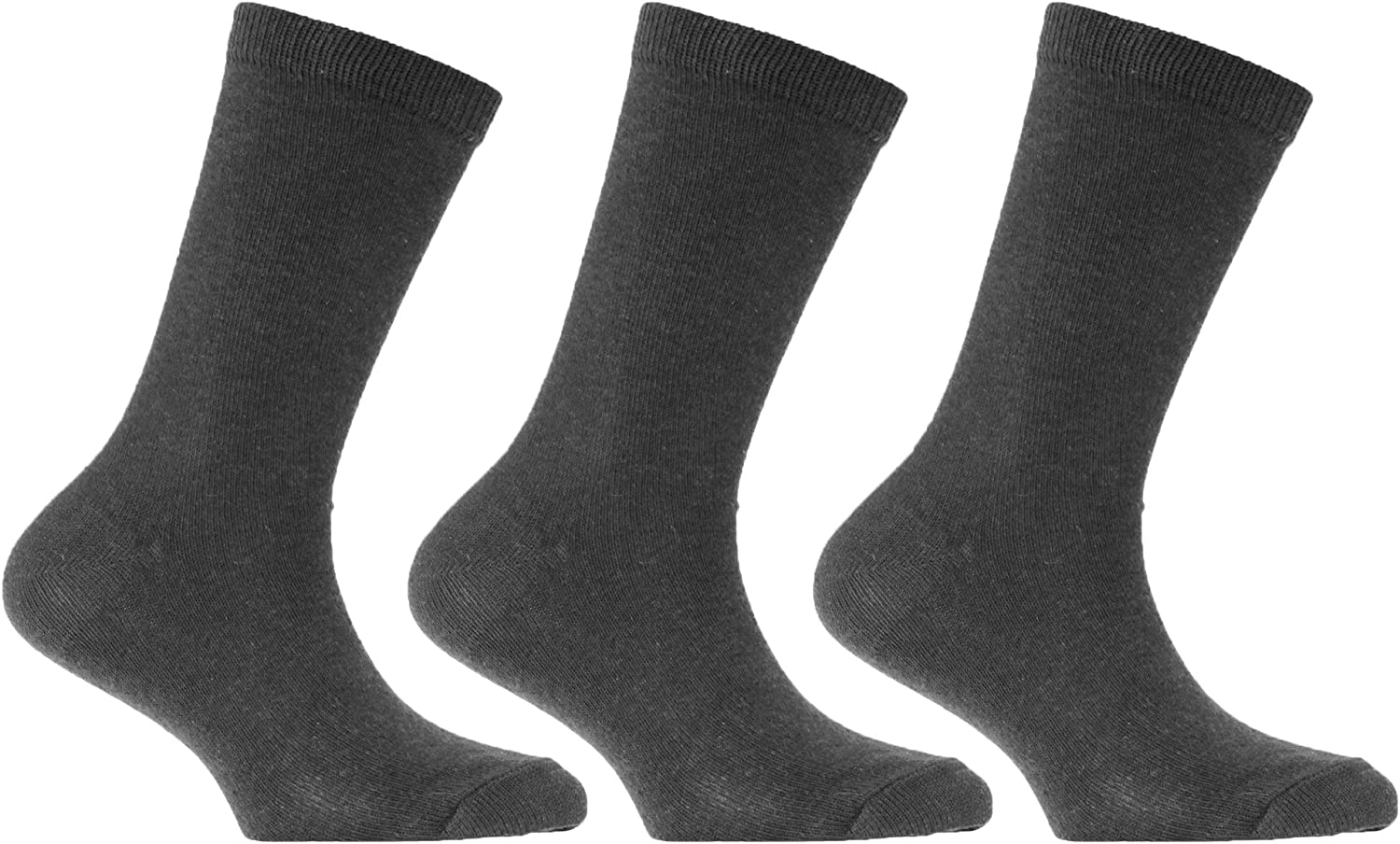 Back to School Kids 6 Pairs Knee High Plain School Cotton Rich Socks