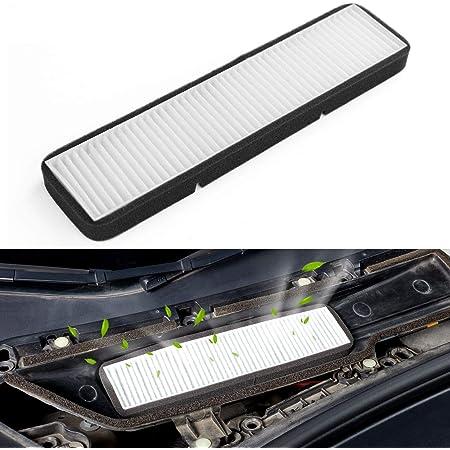WJSXJJ For Tesla Model 3 Aire Filtro HEPA 2 Pack con carb/ón Activado acondicionador de Aire de reemplazo de Aire de la Cabina-Filtros