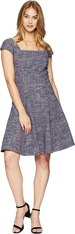 Sleeveless Stretch Tweed Dress