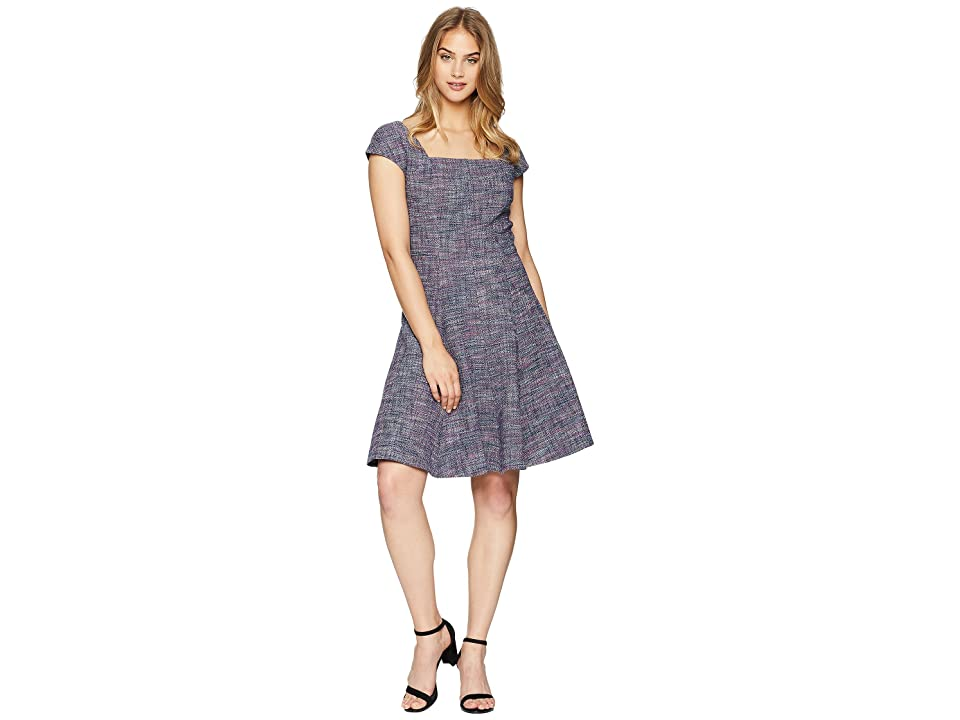 Rebecca Taylor Sleeveless Stretch Tweed Dress (Multi Combo) Women