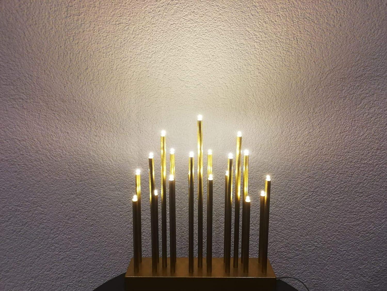 goldfarben Bella-Vita GmbH LED Stimmungsleuchte 19 flammig Dekoleuchte Dekolampe Fensterbeleuchtung