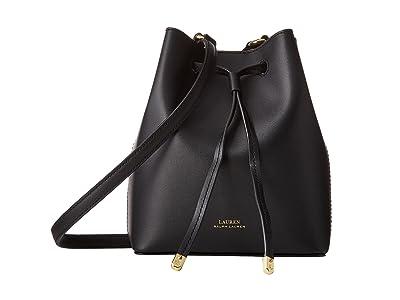 LAUREN Ralph Lauren Dryden Debby II Mini Drawstring (Black/Crimson) Handbags