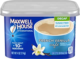 Maxwell House International Decaf Sugar-Free French Vanilla Instant Coffee (4 oz Canister)