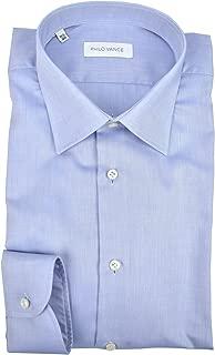 Peter England Tinta Unita Blu Chiaro Camicia Manica Corta Taglie Grandi