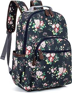 حقيبة ظهر ليبر مقاومة للماء لحمل الكمبيوتر المحمول بتصميم الزهور حقيبة الكتب