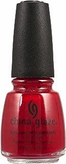 China Glaze Nail Polish Bright Pillar Box Red Crème, 14 ml, Pack of 1