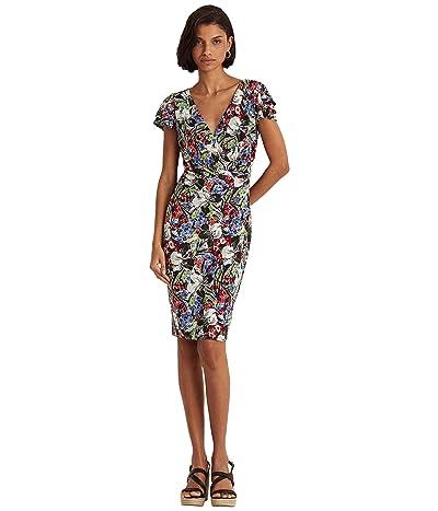LAUREN Ralph Lauren Floral Flutter-Sleeve Surplice Dress