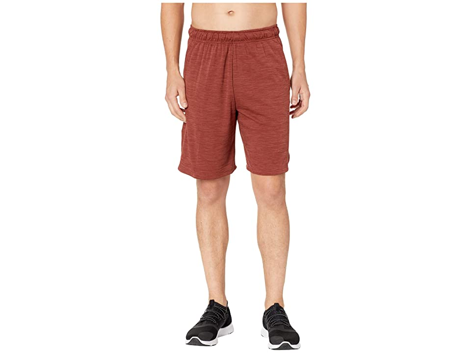 Nike Dri-FIT Heathered 9 Training Short (Pueblo Brown/Black) Men