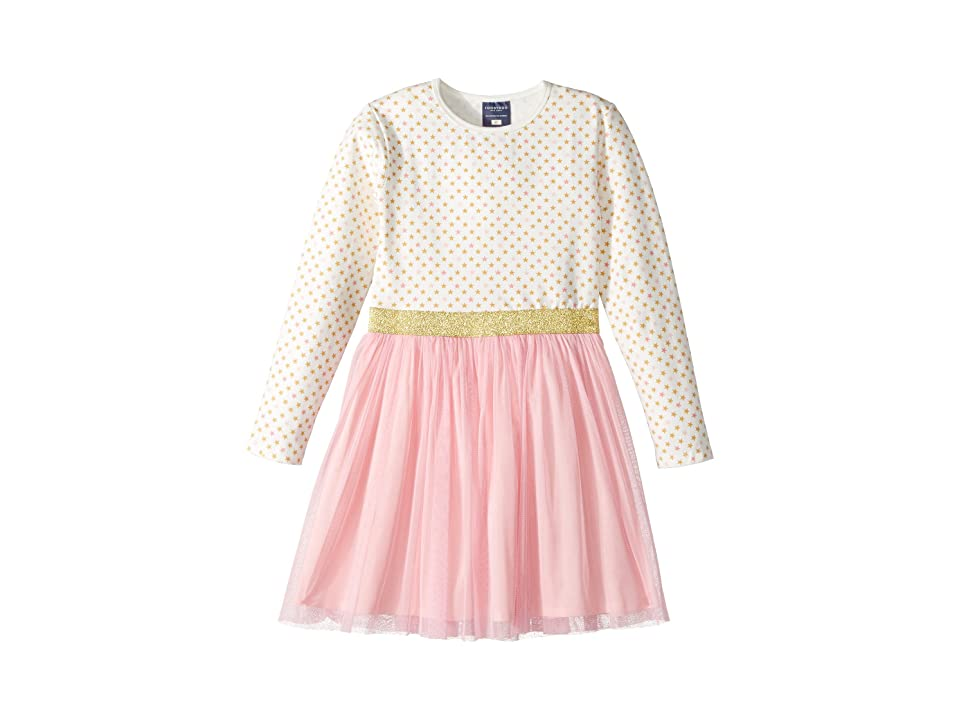 Toobydoo Sweet Stars Tulle Party Dress (Infant/Toddler/Little Kids/Big Kids) (Pink/White/Gold) Girl