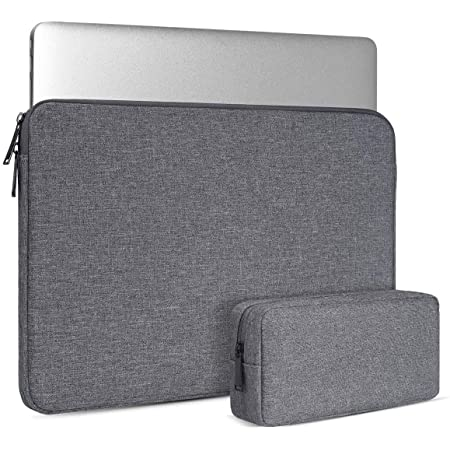 Dynotrek Neo 15.6 inches Laptop chromebook Sleeve case Cover with Charger Pouch -Denim Grey ( 32 N )