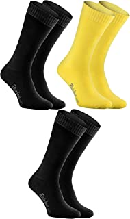 Rainbow Socks - Donna Uomo Calze di Spugna Calde e Colorate 3 Paia
