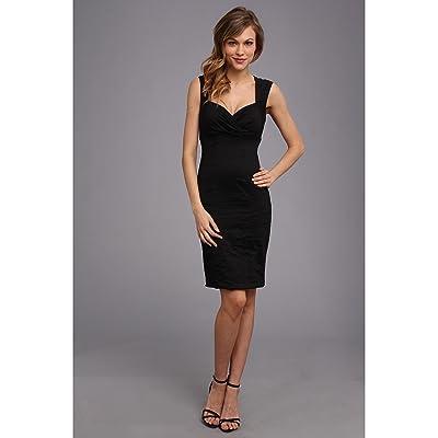 Nicole Miller Sofia Cotton Metal Dress (Black) Women