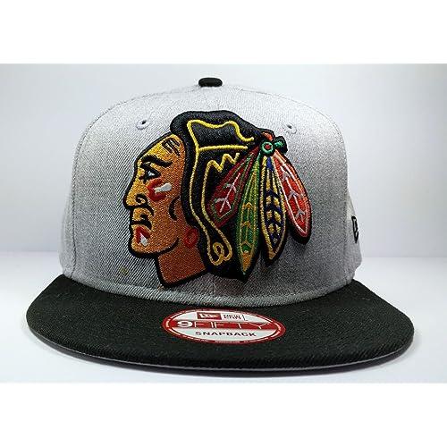 New Era Chicago Blackhawks 9Fifty Grand XL Logo Adjustable Snapback Hat NHL 834f68abe0f6