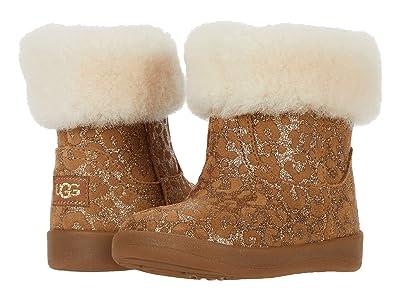 UGG Kids Jorie II Glitter Leopard (Infant/Toddler) (Chestnut) Girls Shoes